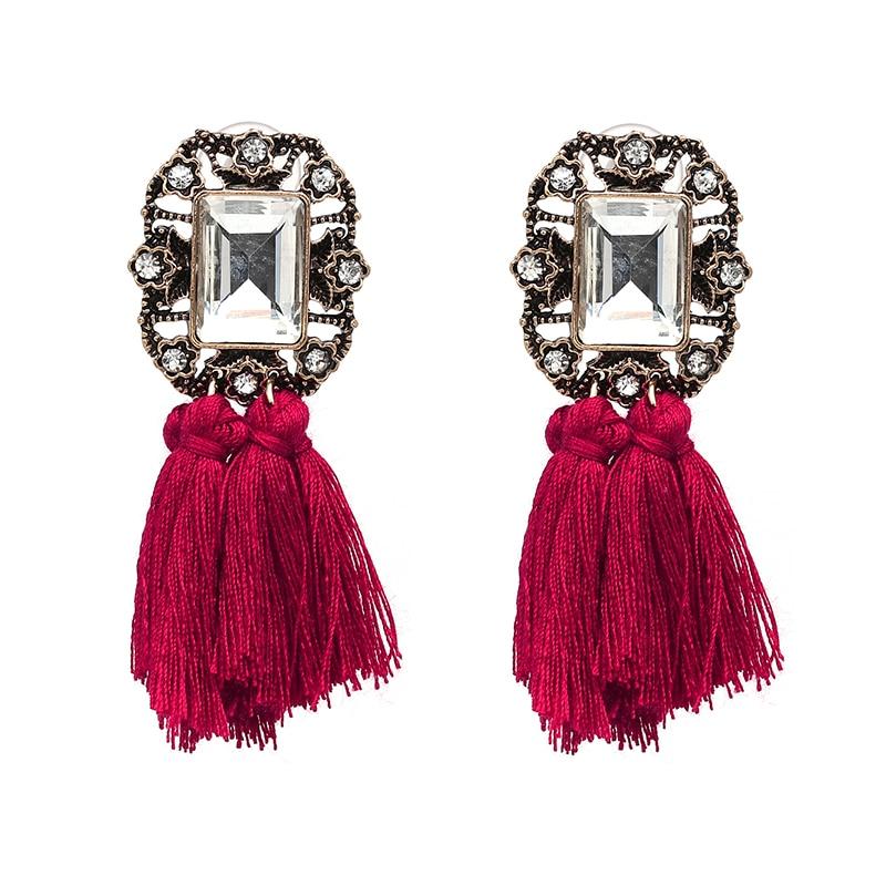 15 Színek nők kézzel készített fülbevalók Tassel Bohém kijelentés maxi hosszú kötéllengés fülbevaló Ékszer pendientes