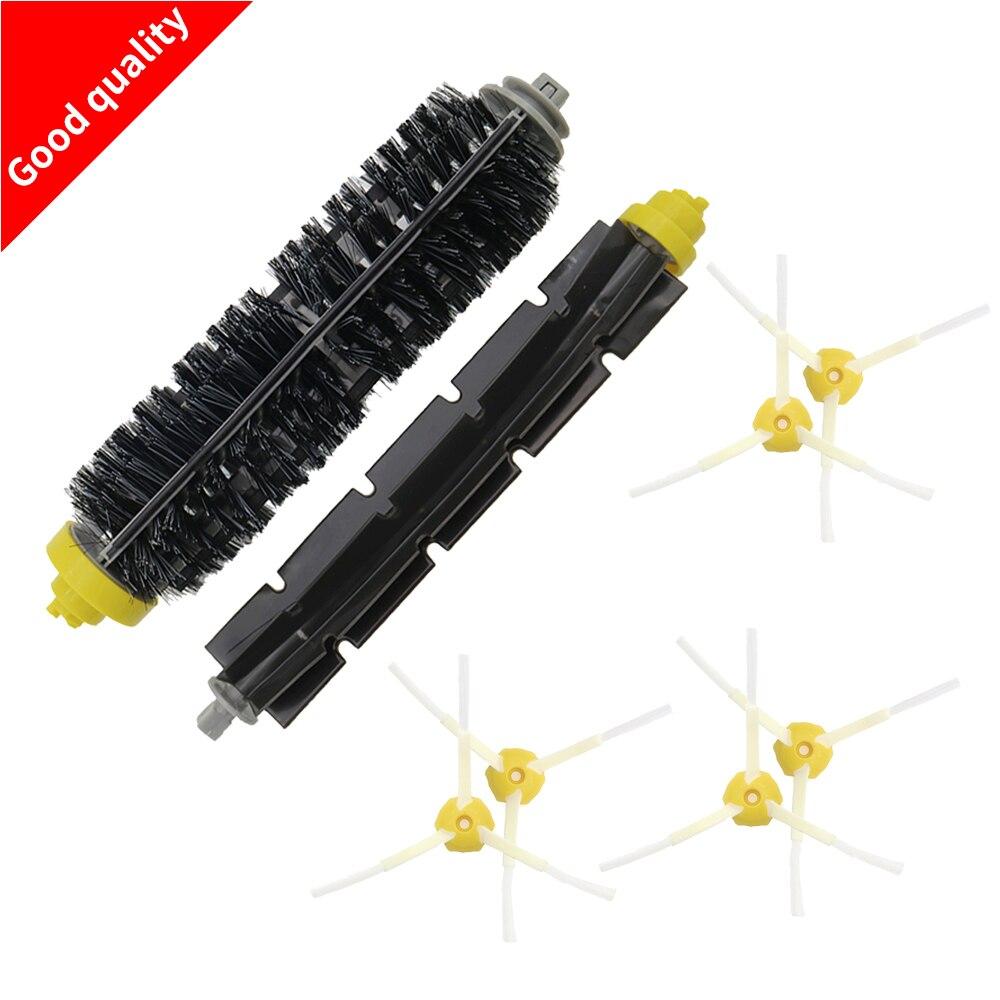 1 Borstel + 1 Flexibele Beater Brush 6 Zijborstel Voor Irobot Roomba 600 700 Series Stofzuigen Robots 760 770 780 790 Weelderig In Ontwerp