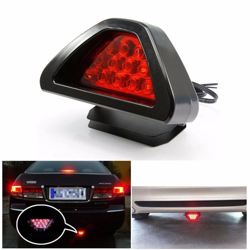 Auto led light 12V Universal F1 Style 12 LED Red Rear Tail Third Brake Stop Safety Lamp Light Car feb15 пороги rival bmw style hyundai ix35 2010 2013 2015 kia sportage 2010 2014 2015 круг 173 см крепеж 2 шт