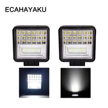 цена на ECAHAYAKU 2pcs LED Bar work Light Bar for Off-road Car styling 4WD Truck Tractor Boat Trailer 4x4 SUV ATV 12V 24V combo beam