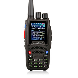 Banda cuádruple Walkie talkie UHF VHF 136-147Mhz 400-470mhz 220-270mhz 350-390mhz 4 bandas de mano de dos vías Radio Ham transceptor KT-8R
