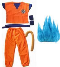 Goku de dragon ball z traje hijo Cosplay disfraces para adultos chico niños chicos chica chico niño peluca ropa de lujo de halloween