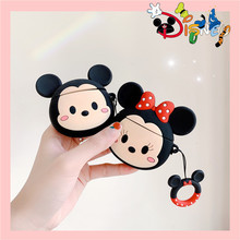 New Fashion Luxury 3D Cute Cartoon Minnie For AirPods 2 Case Silicone Wireless Earphone Airpods i10 i30 TWS Protective Cover