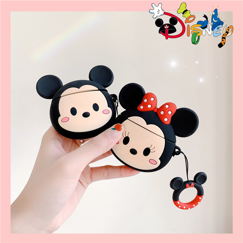 New Fashion Luxury 3D Cute Cartoon Mouse For <font><b>AirPods</b></font> 2 Case Silicone Wireless Earphone For <font><b>Airpods</b></font> i10 <font><b>i30</b></font> <font><b>TWS</b></font> Protective Cover image