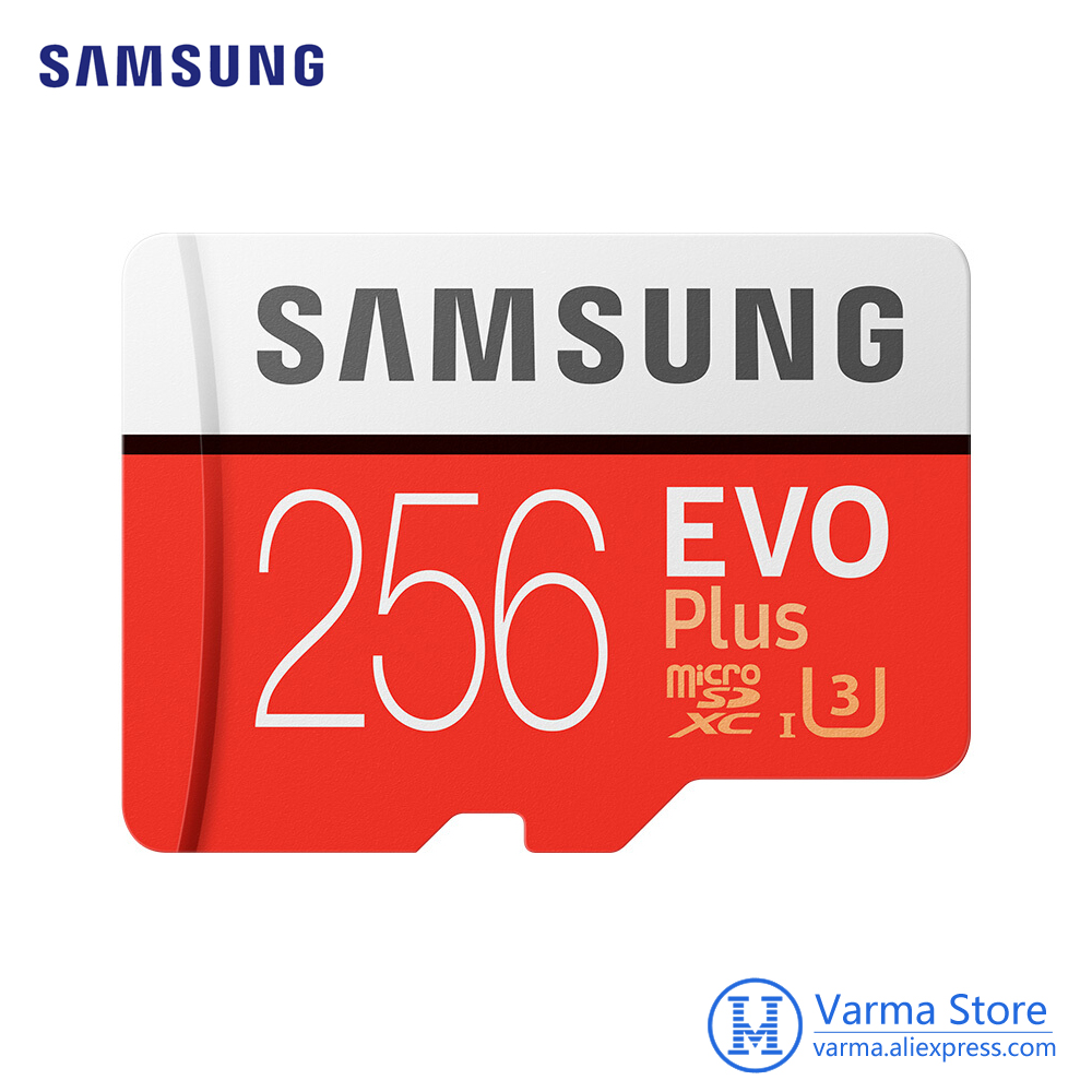 Samsung cartão tf MB-MC EVO Mais microSD256GB UHS-I cartão de memória cartão de memória flash de 256 GB U3 Class10 4 K UltraHD microSDXC