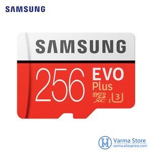 Image 1 - سامسونج tf بطاقة MB MC EVO Plus microSD256GB بطاقة الذاكرة UHS I 256GB U3 Class10 4K UltraHD بطاقة ذاكرة فلاش microSDXC