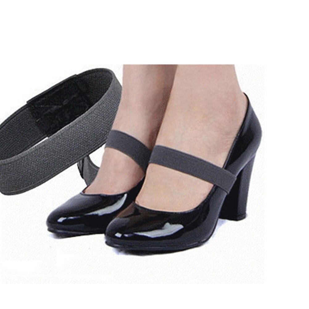 1 Paar 2*20 Cm Elastische Band Farbe Schuh Strap Solide Farbe Spitze Für Hohe Ferse Schuhe Decor Gute WäRmeerhaltung