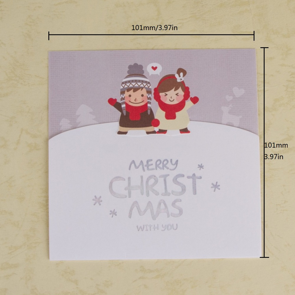 Merry Christmas Greeting Card 10 1cmx10 1cm Gift Card Thank