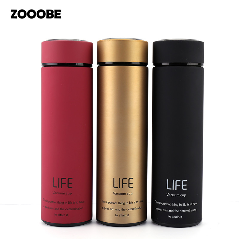 ZOOOBE 500ml Thermos tea mug with Strainer Thermo Coffee cup Stainless steel Vacuum flask thermal bottle Tea Infuser Insulated