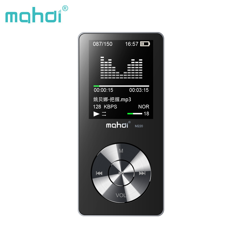 лучшая цена Mahdi Metal Lossless Hifi Mp 3 Mp3 Player Music Flac Audio Walkman With Screen Speaker Fm Radio Portable Hi-fi 8gb Lcd Hifiman