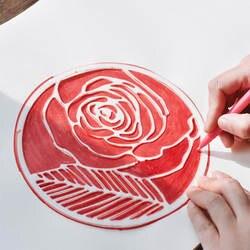 Творческий завод цветок круглый шаблон живописи правитель руководство план этот альбом «сделай сам» рисунок линейка трафарет пуля журнал