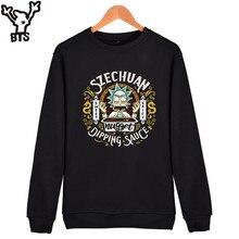 BTS Rick And Morty Sweatshirt Men Hoodie Autumn Casual Capless Men Anime Hoodies USA Cartoon Fashion Men Fashion Top 4XL Clothes