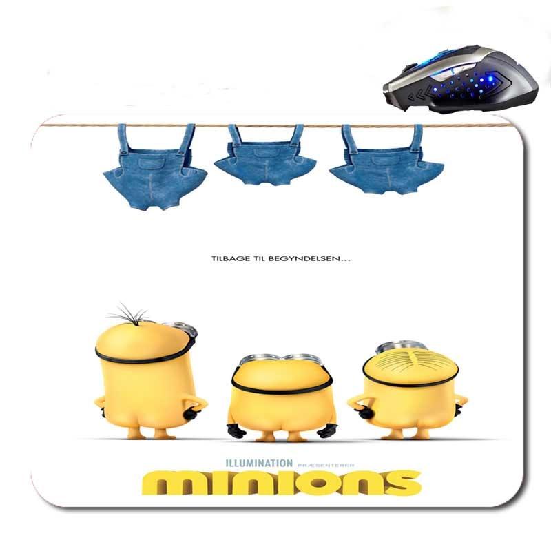 Free Shipping The Movie Minions Plakat Custom font b Gaming b font Mouse Mat High Quality