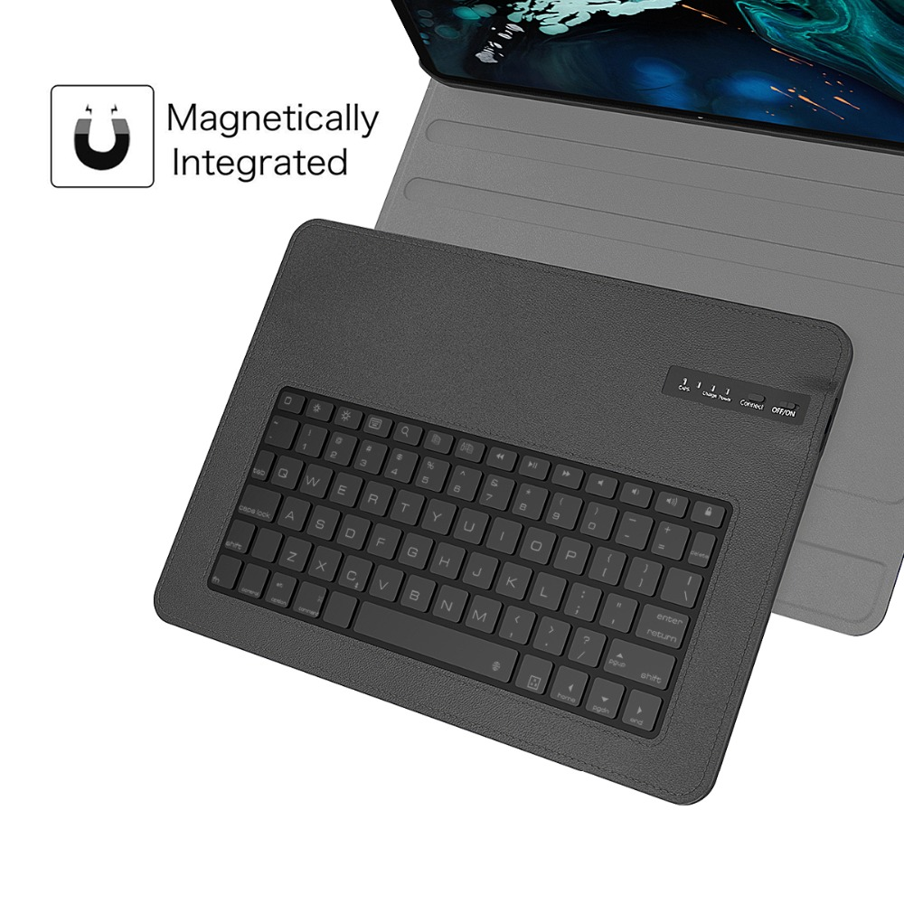 For iPad Pro 12.9 2018 Case Detachable Wireless USA Keyboard PU Leather Flip Keyboard Tablet Case For iPad Pro 12.9 Inch 2018