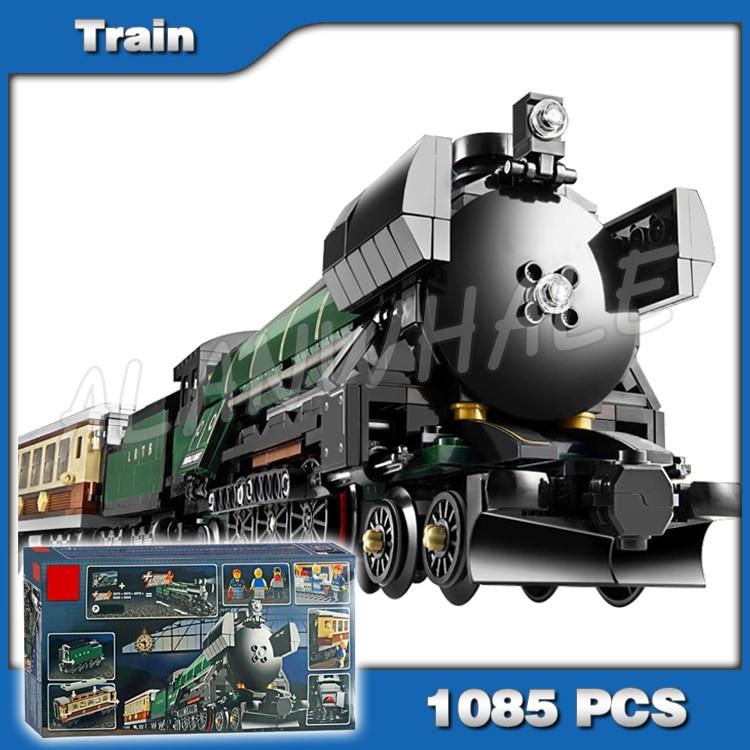1085 pièces Nouveau Lepin 21005 Créateur Émeraude Nuit Train Kit de Construction 3D Modèle blocs jouets Briques compatible avec Lego