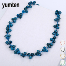 Yumten Women Gem Halsband Kort Fine Statement Smycken Multicolor Power Crystal Stone Tillbehör Fashion Original Yoga Choker