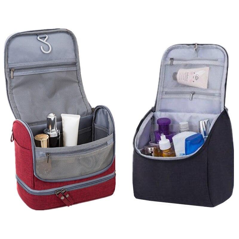 Feminino masculino pendurado saco cosmético viagem necessarie compõem toiletry armazenamento maquiagem vaidade casos organizador beleza gancho lavagem bolsa