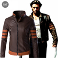 [Asian Size] Leather Jacket Men 2016 X-Men Cosplay PU Coat Men's Fashion Motorcycle Jacket Plus Size 5XL  jaqueta masculina