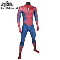 Ling Bultez High Quality for 180cm tall Raimi Spiderman Costume Spider man Suit For Halloween