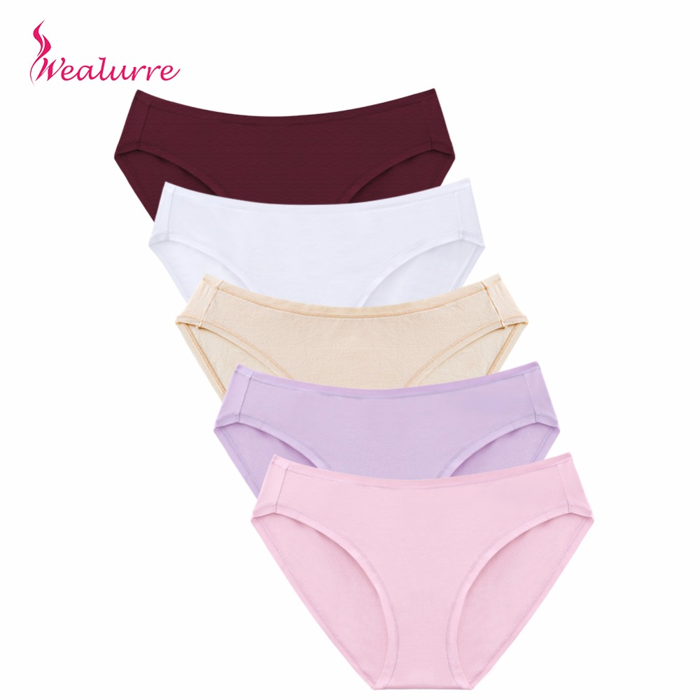 Wealurre Soft Sexy Cotton Briefs Women Low Waist Rise Underwear Invisible Seamless Panties Briefs Female Underpants Intimates PH