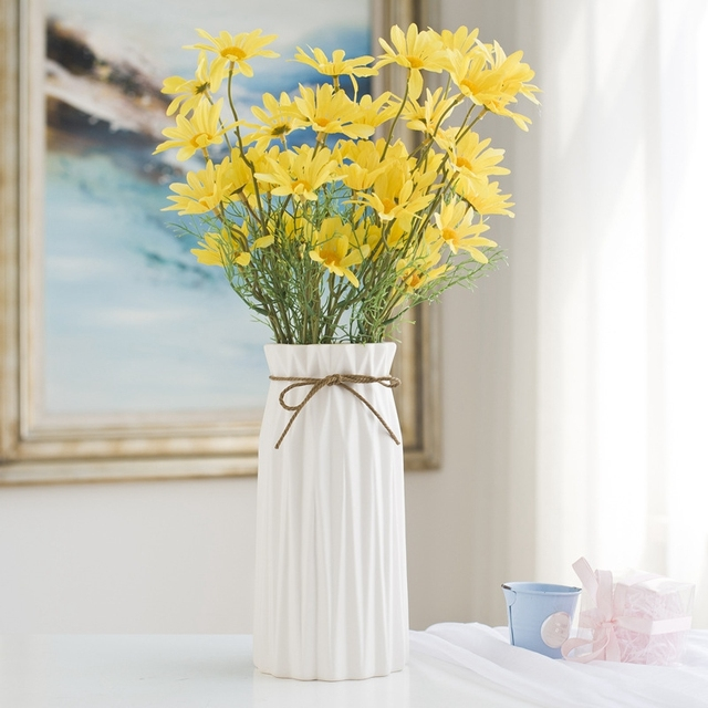 Creative Ceramic Flower Vase Home Decor Simple Candy Color