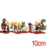 C & F Dragon Ball 42 Anime Action Figure Spielzeug Super Saiya Son Goku 10 CM 10 STÜCKE Display MIni PVC Modell Sammelfiguren spielzeug