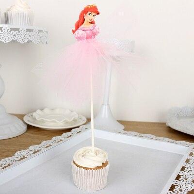 1 Uds lindo elsa Annaelsa Sofia enredado Belle Ariel anna Tiana Pastel de princesa cumpleaños falda hecha a mano para la decoración para cumpleaños de niños
