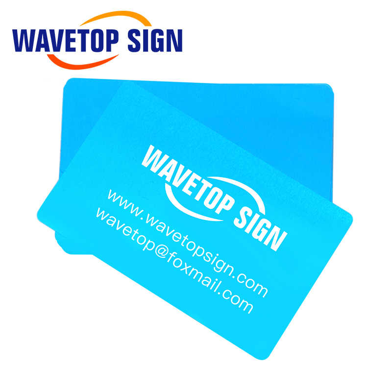 WaveTopSign 100 ピース/ロットビジネス名カード多色アルミ合金金属シートテスト材料レーザーマーク機