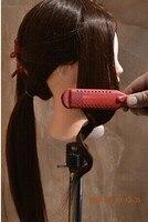 60CM training head 85% natural human Hair Hairdressing Mannequin Training Head teaching head dummy head