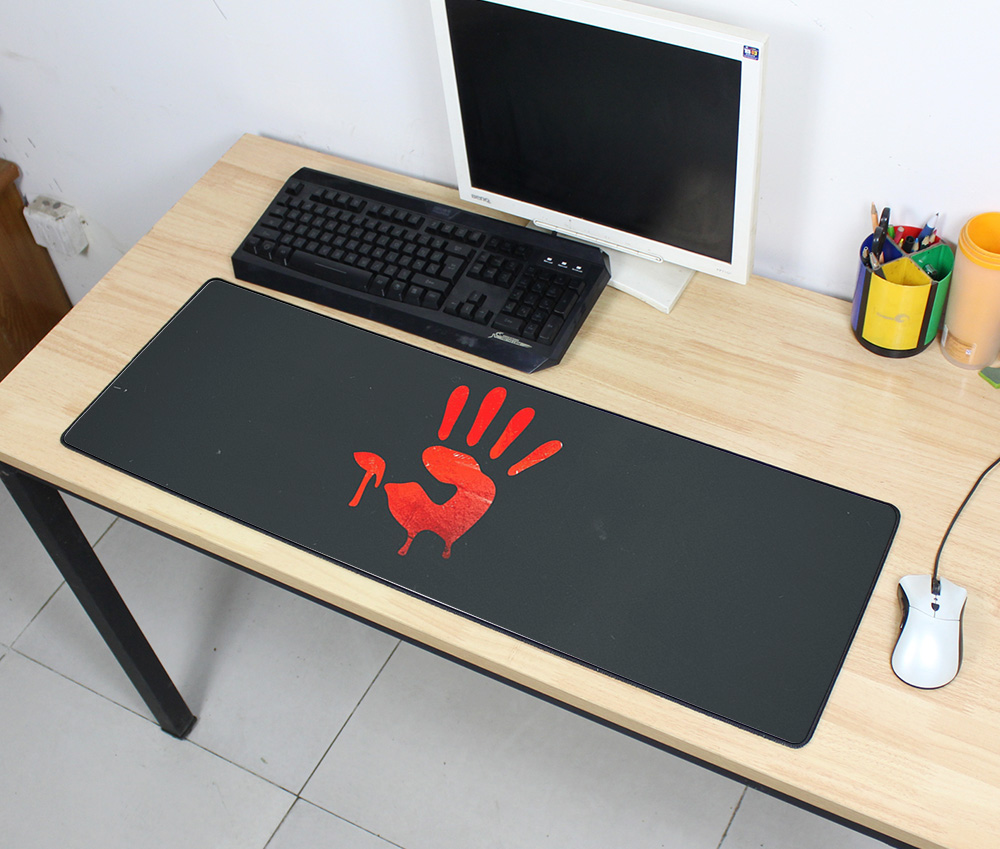 Bloody Pad Mouse Computador Gamer Mause Pad 900x300x2mm Padmouse Big Mass Pattern Mousepad Ergonomic Gadget Office Desk Mats