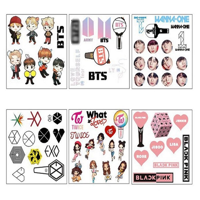New Arrival Bts Exo 3d Photo Stickers Paper Bubble Stickers