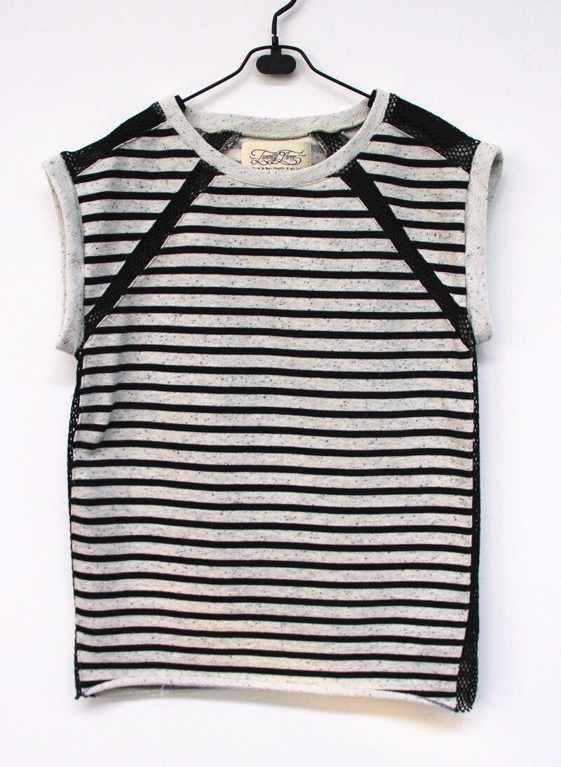 2016 New Spring Summer Women sweatshirts tank tops for women <font><b>hoodies</b></font> sweatshirts 100%Cotton Stripe <font><b>French</b></font> <font><b>Terry</b></font> Sleeveless XS-XL