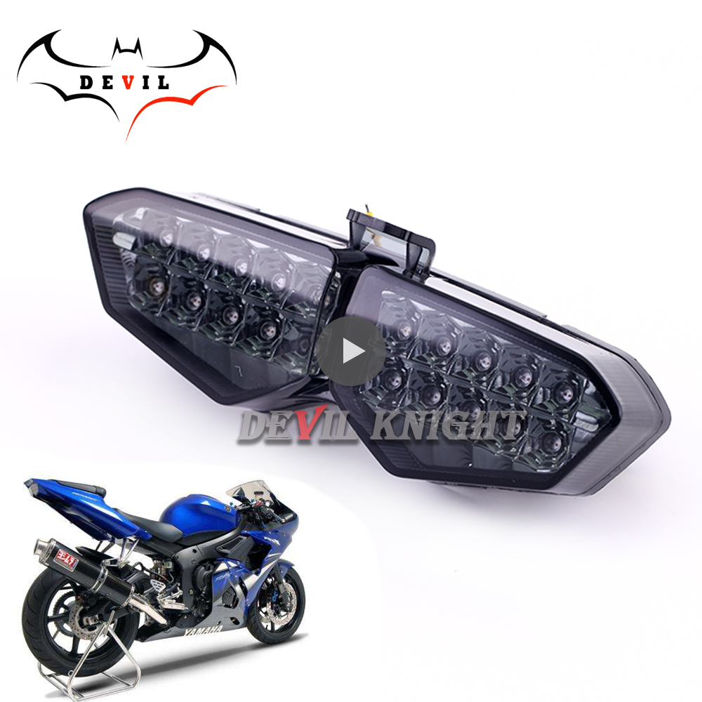 For Yamaha YZF R6 2003 2004 2005 Rear Tail Light Brake Turn Signals Integrated LED Light Motorcycle Accessories Motorcycle Light