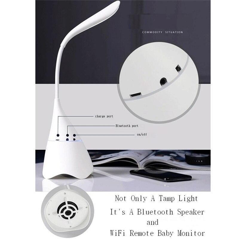 Les plus nouveaux haut-parleurs portatifs de Bluetooth touchent la lampe de lecture de Table de bureau de lumière LED de capteur avec l'appareil-photo WiFi moniteur à distance de bébé