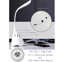 Newest Portable Bluetooth Speakers Touch Sensor LED Light Desk Table Reading Lamp With Camera WiFi Remote Baby Monitor