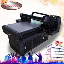 615dffc0 60*90cm UV flatbed ptinter double XP600 T-shirt glass Acrylic digital  printing machine