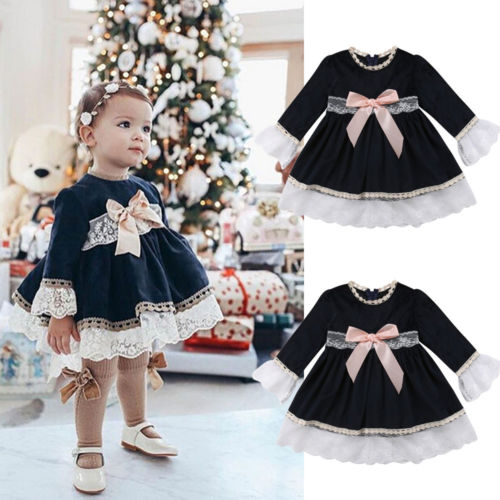 Pudcoco Stylish Baby Girl Princess Dress Lace Floral Toddler Party Wedding Pageant Clothes Sleeveless Bow Knot Summer Dress New Платье
