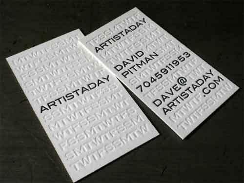 Unique Personnalis Grav Cartes De Visite 600gsm Blanc Carton Papier Impression Avec Typographie Carte Dans