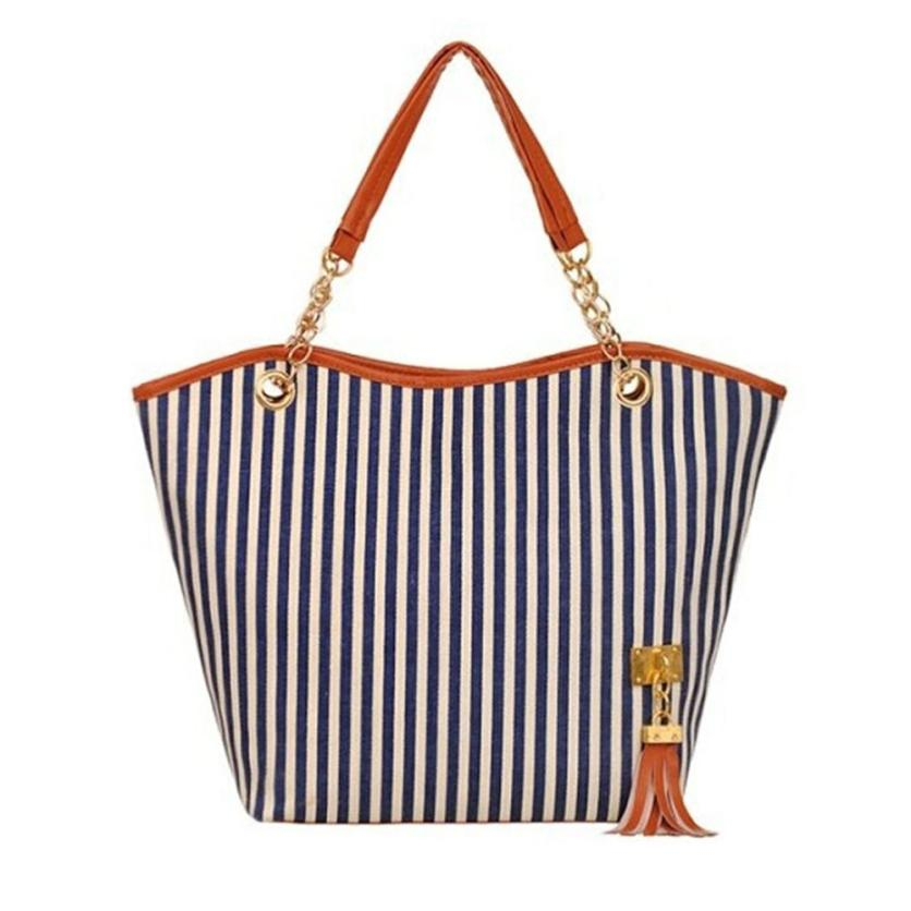 Popular Striped Canvas Bag-Buy Cheap Striped Canvas Bag lots from ...
