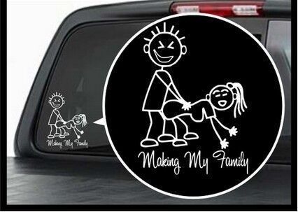 Car styling stick figure making my family funny window vinyl decal car sticker on aliexpress com alibaba group