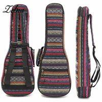 Zebra 21 23 26 Inch Độn Bông Dân Gian Xách Tay Bass Guitar Gig Bag Ukulele Trường Hợp Bìa Cây Guitar Ba Lô với Đôi Phần Dây Đeo
