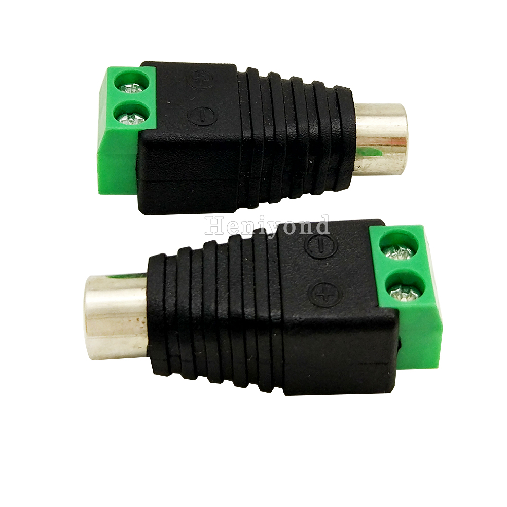 Free Shipping 10pcs RCA Female Coax Cable Connector Adapter F/M Coupler For CCTV Camera Rca Jack Plug RCA Video & Audio Cable