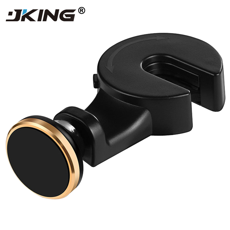 JKING 360 Rotate Backseat Hook Magnetic Car Phone Holder For Samsung S9 S9 Plus For iPhone X 8 8 Plus Adjustable Holder Stand