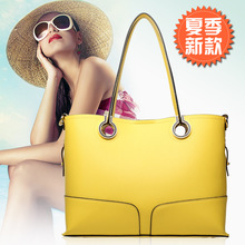 2015 Multi-purpose Fashion Brand Composite Bag Candy Color Women's Handbags Casual Female Bags