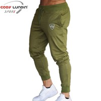 2018 New Men Joggers Brand Male Trousers Casual Pants Sweatpants Jogger Dark Grey Casual Elastic Cotton