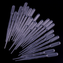 100PCS 3ML Disposable Plastic Eye Dropper Transfer Graduated Pipettes Office Lab Experiment Supplies