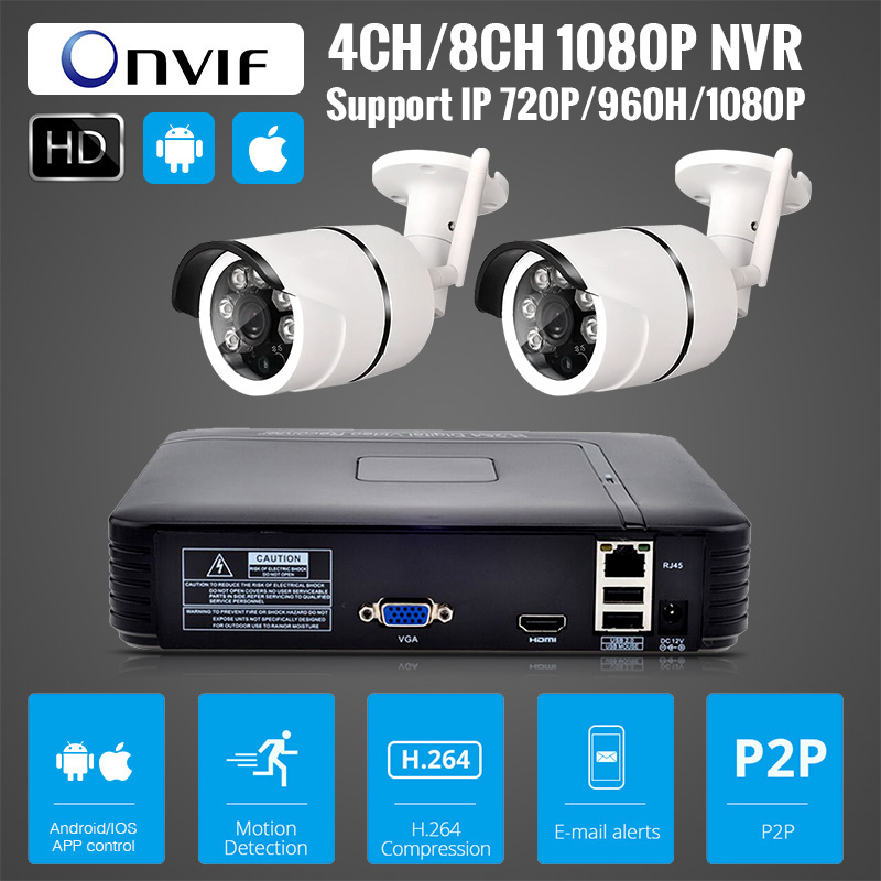 4CH 1080P HD Wireless NVR Camera System P2P 720P 1MP Indoor Outdoor IR Night Vision IP Camera WIFI CCTV Camera Security System ноутбук hp 15 db0192ur amd a4 9125 2300 mhz 15 6 1920x1080 4gb 500gb hdd dvd нет amd radeon r3 wi fi bluetooth windows 10 home