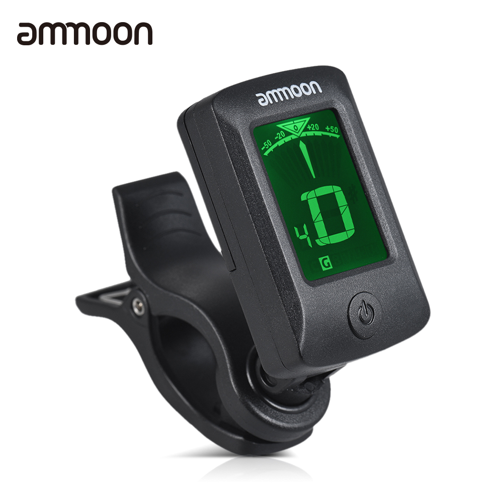 buy ammoon at 07 guitar tuner digital electronic clip on tuner lcd screen for. Black Bedroom Furniture Sets. Home Design Ideas