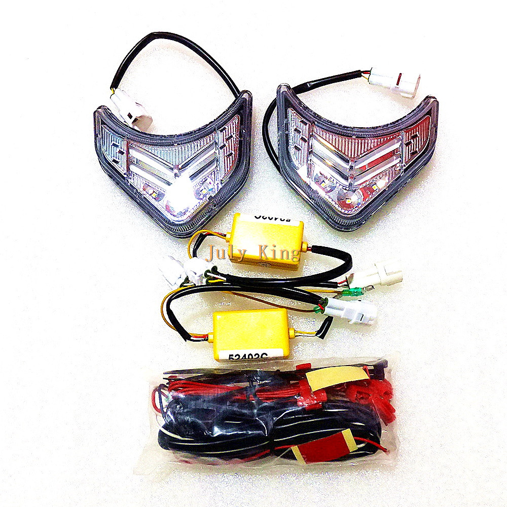 July King LED Light Guide Daytime Running lights LED DRL at Fog Lamp Cover case for Kia Sorento 2009-12, 1:1, Made at Taiwan wljh 2x car led 7 5w 12v 24v cob chip 881 h27 led fog light daytime running lamp drl fog light bulb lamp for kia sorento hyundai