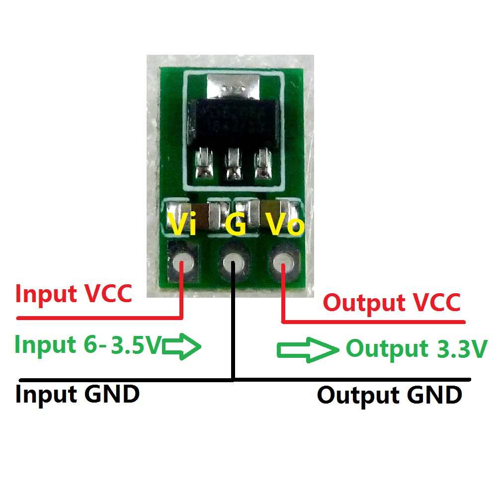 Image 5 - 2x Ultra light Ultra thin DC 3.7V 4.2V 4.5V 5V to 3.3V Step Down Buck Regulator LDO Module repl AMS1117 3.3 Power Supply Board-in Integrated Circuits from Electronic Components & Supplies